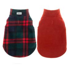 Cão roupas de inverno casaco de lã reversível