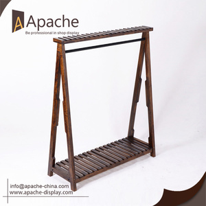 New Arrival A Grade wood retail clothing display rack with Good quality