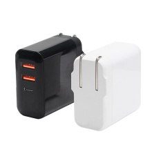 Foldable Plug Type C adapter 30w wall charger