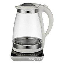 New Glass Kettle 1.7L Funky Modern Stainless Cordless Blue LEDs