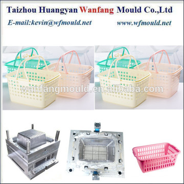 new design of plastic picnic basket injection mold/plastic picnic basket with handle mold manufacturing