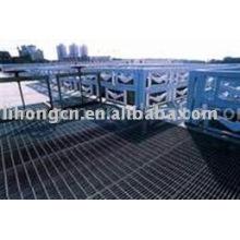 Rejilla de suelo, plataforma de acero, rejilla de paso