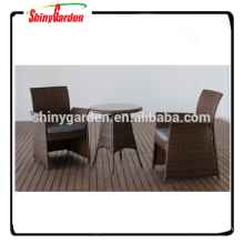 3pcs rattan bistro set, rattan garden dining set, table and chair restaurant set