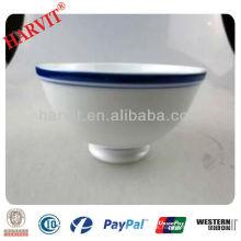 Tazón azul y blanco