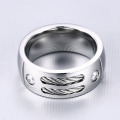 Custom Stainless Steel Mens Ring Ring Cable