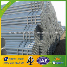 ASTM A 53 A500 4 inch hot dip galvanized steel pipe/tube