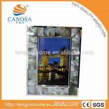 Eco amigável Blak Madrepérola Frame Foto com Silver Edge