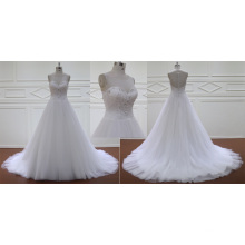 Beading Bodice A Line Wedding Gown Bridal Dress