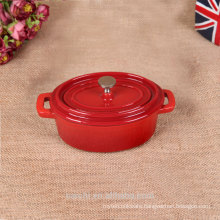 China red round enameled metal dishes for cooking