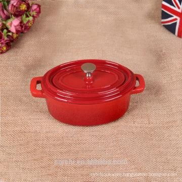 oval mini iron casserole