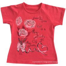 Fashion Flower Girl bébé vêtements en enfants enfants T-Shirt avec Printingsgt-079