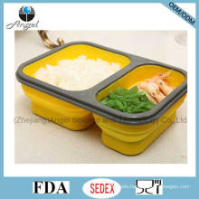 Foldable Silicone Food Container Indian Tiffin Lunch Box Sfb08