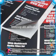 Wholesale printing custom easy peel off glossy paper sticker