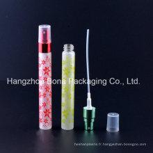 Bouteille en verre de bouteille de parfum de 10ml avec le pulvérisateur
