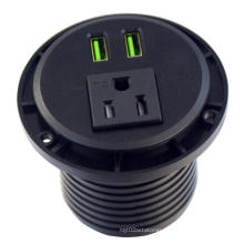 US Single Power Outlet Unit Strip With USB