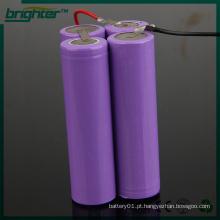 Bateria pacote 18650 7.4v lítio