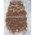 15 clips deep wave clip in hair extension
