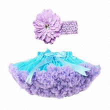 Chiffon Party Cute Girls' Summer Skirt Design, OEM Designs Highly Welcomed