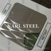 Hohe Qualität 201 Edelstahl Farbe Ket007 Hl Blatt