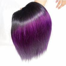 Extension de cheveux bouclés natrual usine prix étiquette privée Remy Natrual couleur cheveux trame