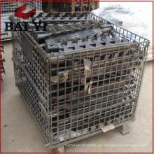 Contenedor de rollo de almacenamiento de malla de alambre con ruedas y jaula de rollo de paleta