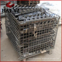 Wire Mesh Storage Roll Container With Wheels and Pallet Roll Cage