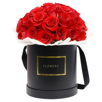 Partihandel Luxury Black Round Flower Papperslådor