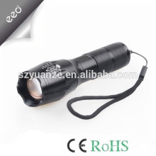 T6 LED Flashlight Zoomable Focus Torch by 1*18650 or 3*AAA flashlight