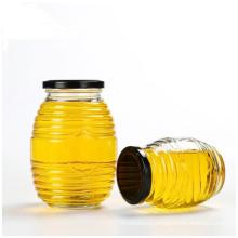 Honeycomb Shape Glass Storage Jars for Packaging Honey