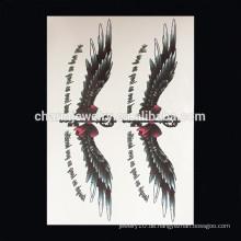 OEM Großhandel populäre Tiere Arm Tattoo bunte Flügel Arm Tattoo personalisieren Tattoo Aufkleber W-2029