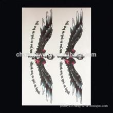 OEM Wholesale popular animals arm tattoo colorful wing arm tattoo personalize tattoo sticker W-2029