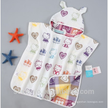 100% soft cotton baby bath towel extra soft lovely animal hooded towel Wrap with print Boys & Girls baby towel