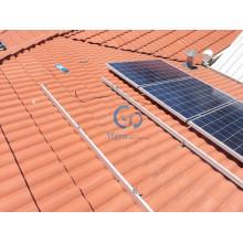 3кВт плитки крыши Крепление сетки галстук солнечных фотоэлектрических систем
