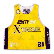 Custom Reversible Sublimation Mesh Lacrosse mangas Camisas / Jerseys / Wear