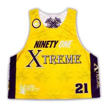 Custom Reversible Sublimation Mesh Lacrosse mangas Camisas / Jerseys / Wear