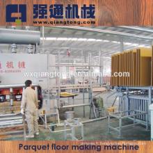 Plancher laminé 2800T Machine à chaud / Parquet Ligne de production de plancher