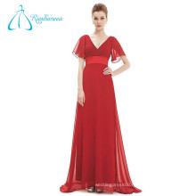 Brush Train Short Sleeve Empire Waistline Sale Evening Dress