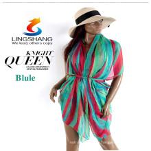 Las bufandas de las mujeres usan la playa 2015 de la nueva playa del verano del otoño de la manera cubren las bufandas del mantón del abrigo de la bufanda para las mujeres