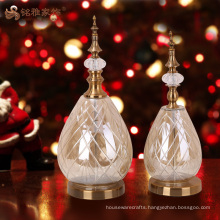 2017 new design antique gift craft glass vase christmas decoration items for indoor home