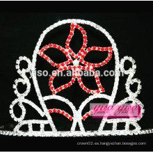 Tiara de la joyería del pelo de la manera de la flor de cinco hojas
