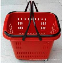 Cesta De Supermercado De Plástico De Luxo Com Rodas