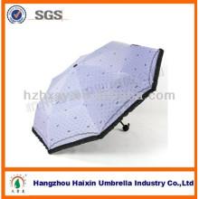 UV-Block Sonne Hochzeit 3 Falten Mode Regenschirm