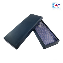luxury black thick necktie packaging cardboard matte box
