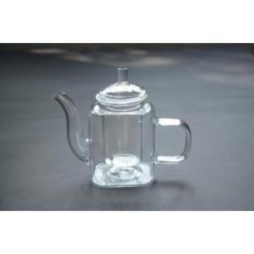 Tableware Handblown 350ml Transparent Borosilicate Glass Teapot with Infuser
