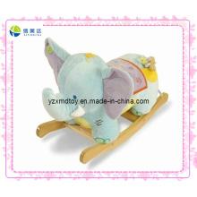 Blue Funny Plush Rocking Elephant for Baby Toy (XDT-0226)