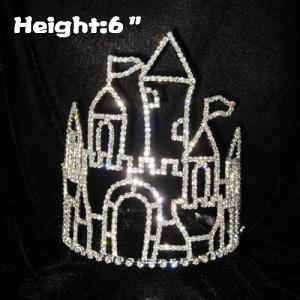 Coroas do concurso de cristal de quadro de castelo de 6 polegadas
