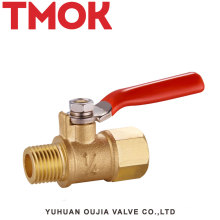 FxM thread long handle brass color gas valve