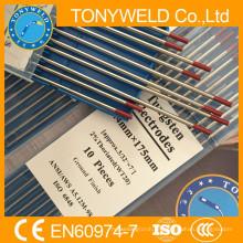 WT20 varilla de tungsteno TIG rojo 2.4 * 175mm