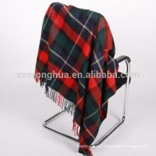 manta de tartán de lana para el hogar