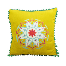 India and Pakistan style of yellow cushion